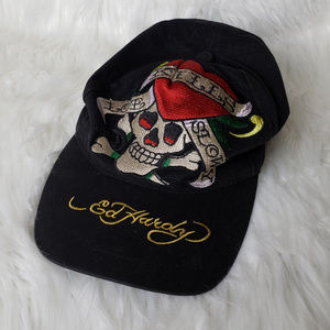 Ed Hardy Embroidered Classic Skull Hat
